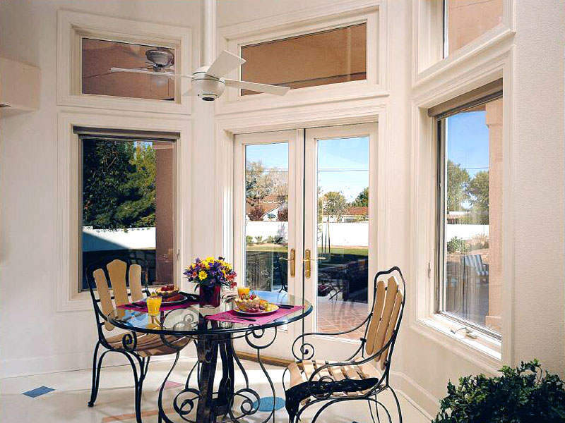 Pella Architect French Door and Awning Windows with Transoms
